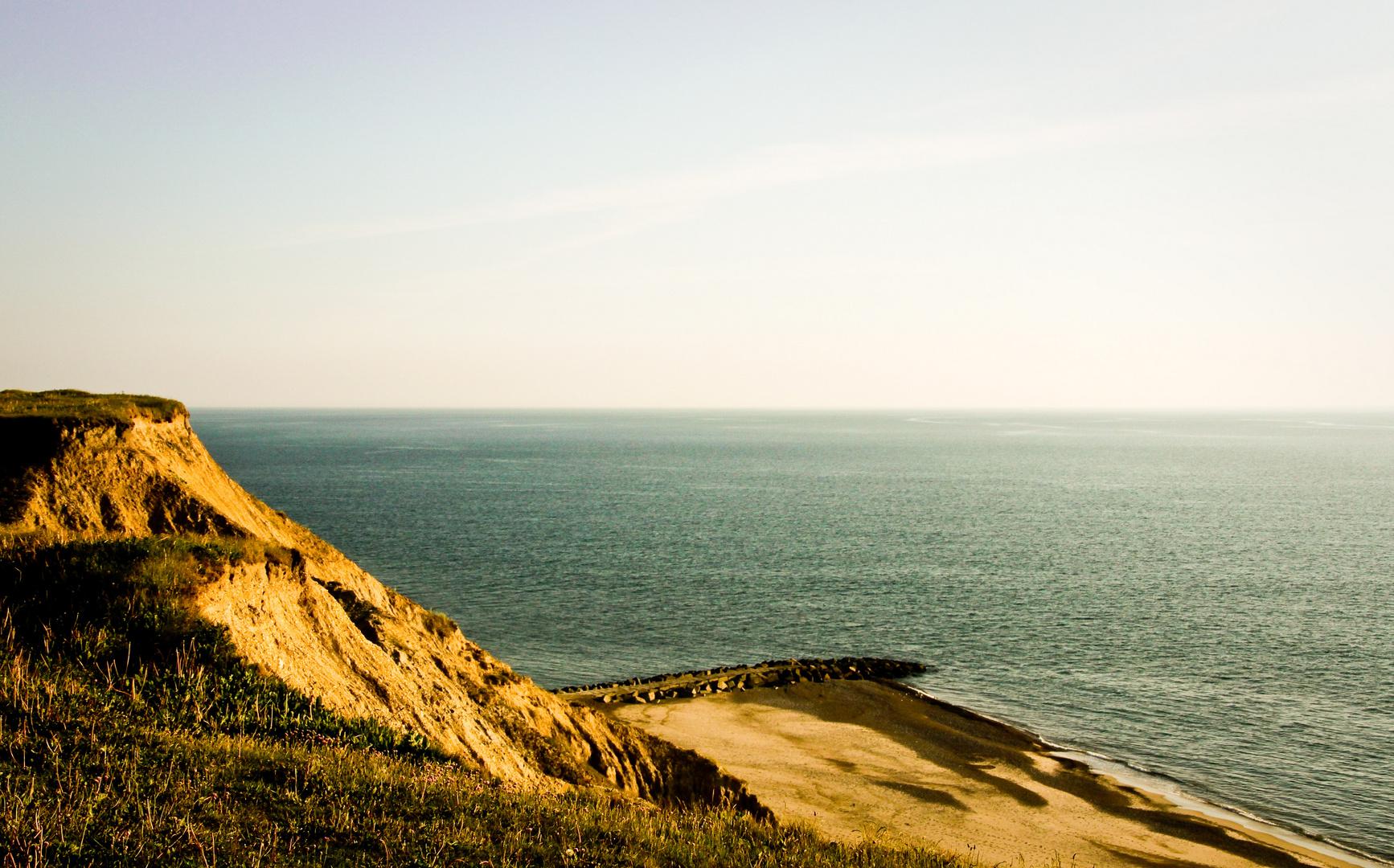 Abend an der Steilküste .....