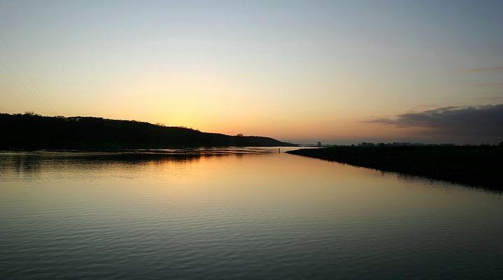 Abend auf der Elbe