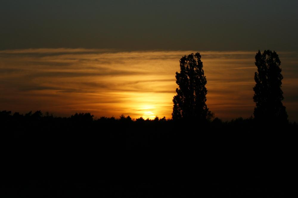 Abend-Blick von meinem Balkon