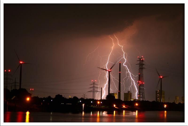 Abend Gewitter an der Weser part 2