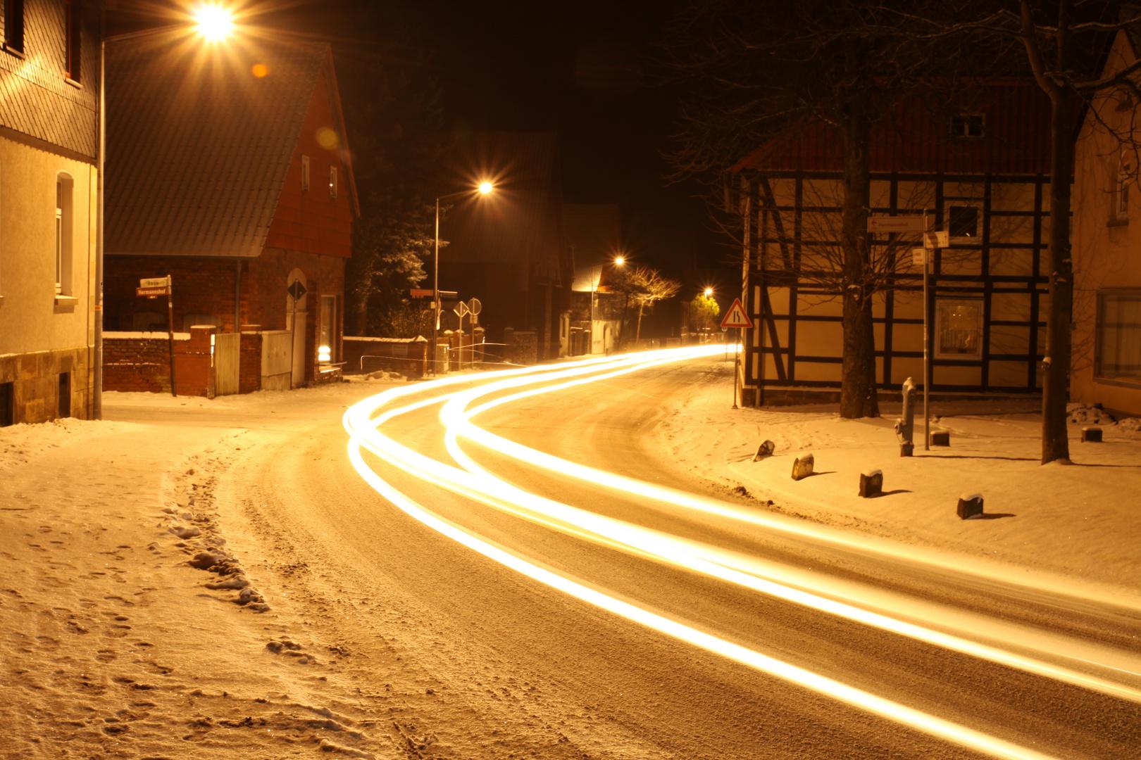 Abend im Dorf