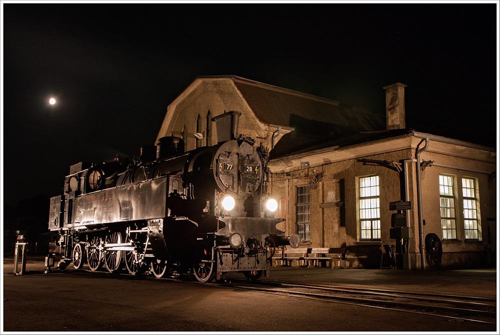 Abend im Eisenbahnmuseum
