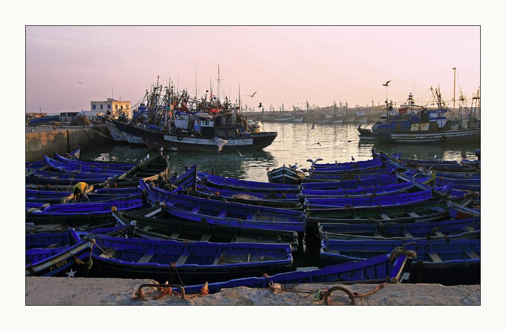 Abend im Hafen von Essaouira