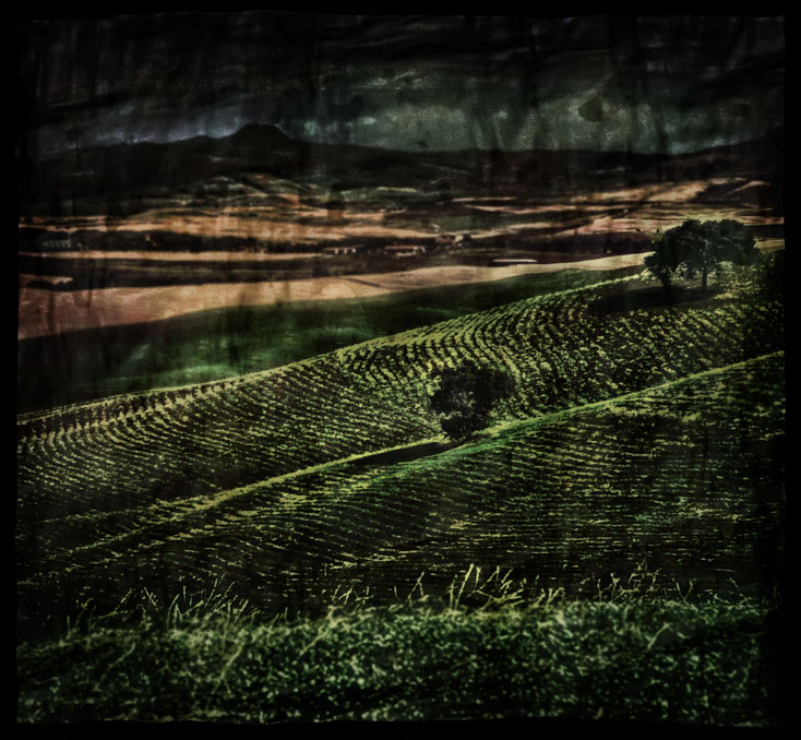 Abend im Val D'Orcia