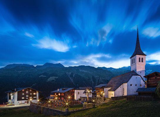 Abend in Bellwald/Schweiz