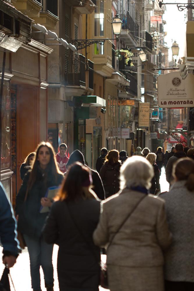 Abend in der Altstadt von Palma