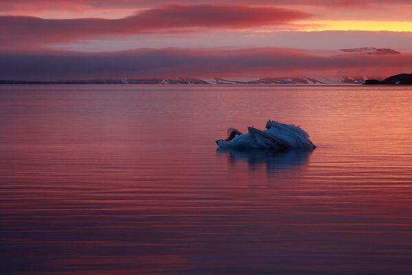 Abend in der Arktis