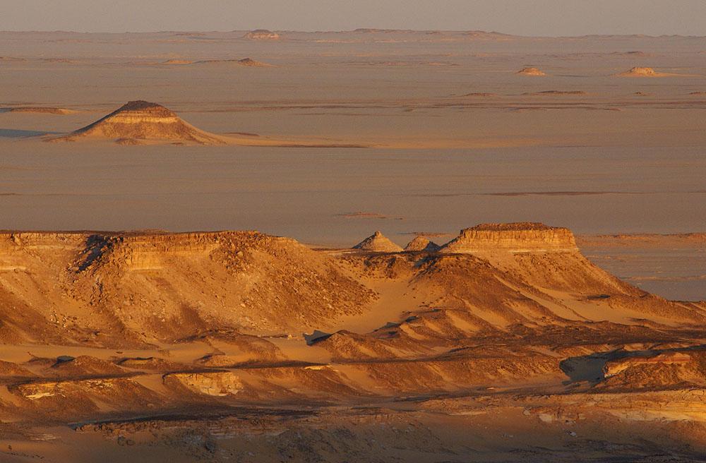 Abend in der libyschen Wüste