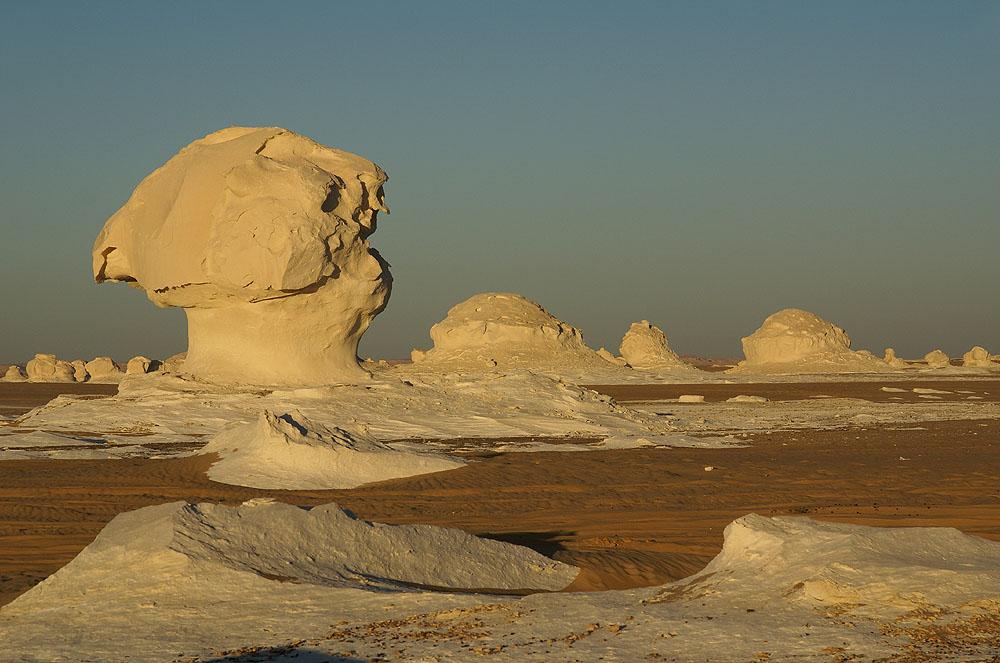 Abend in der weißen Wüste