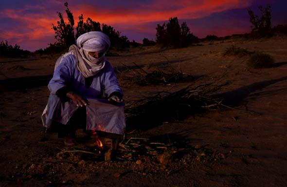 Abend in der Wüste