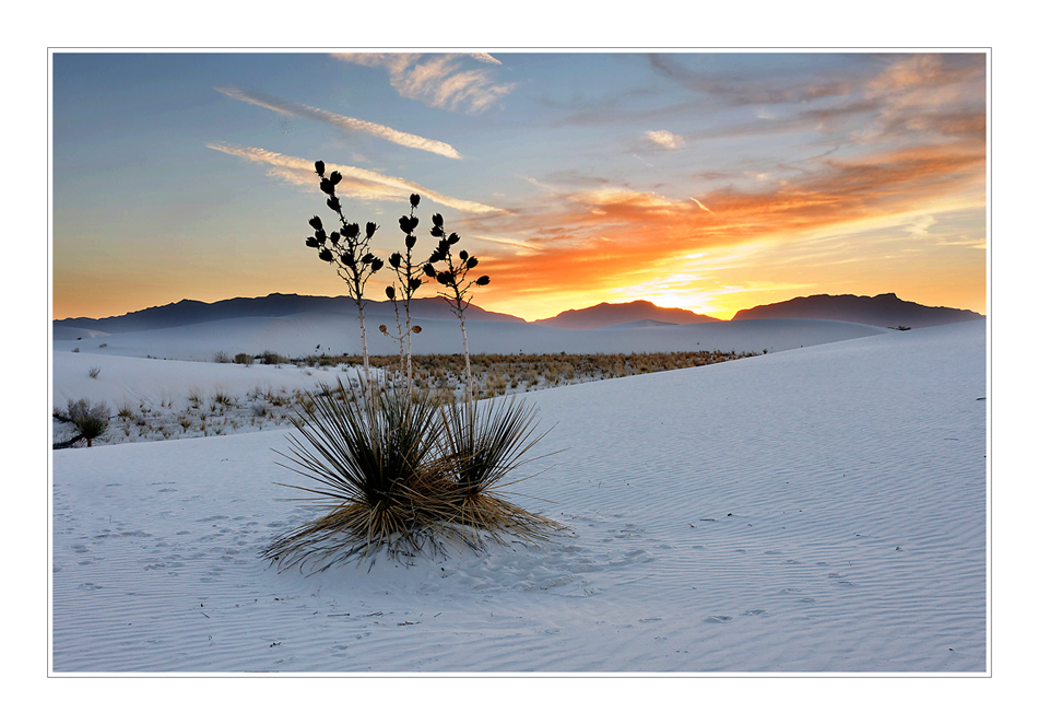 Abend in White Sands
