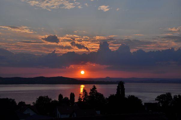 Abend über dem See