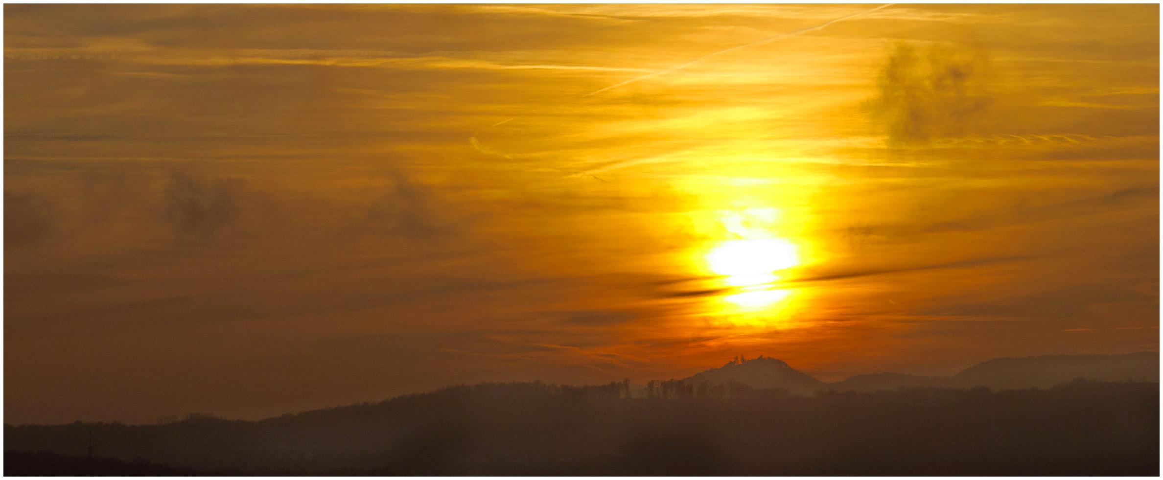 Abend über dem Siebengebirge