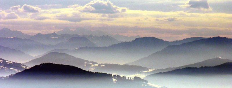 Abend ueber der Zentralschweiz