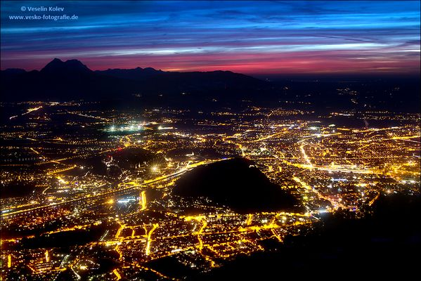Abend über Salzburg