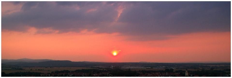 Abend über Thüringen