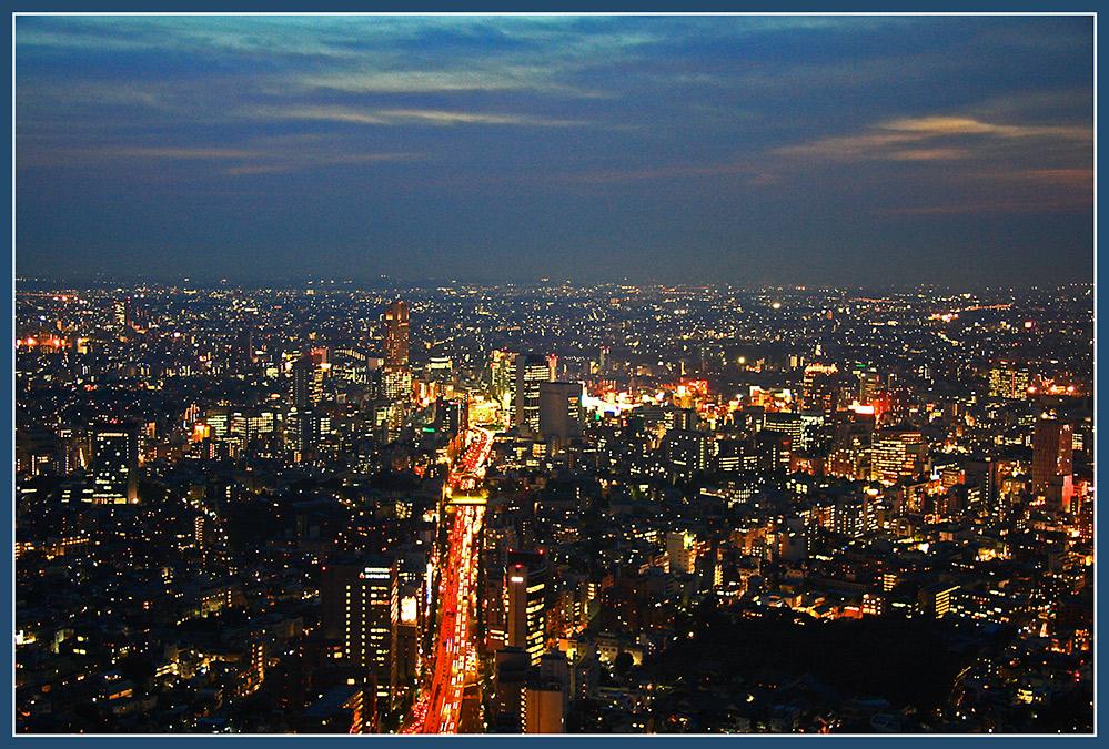 Abend über Tokyo
