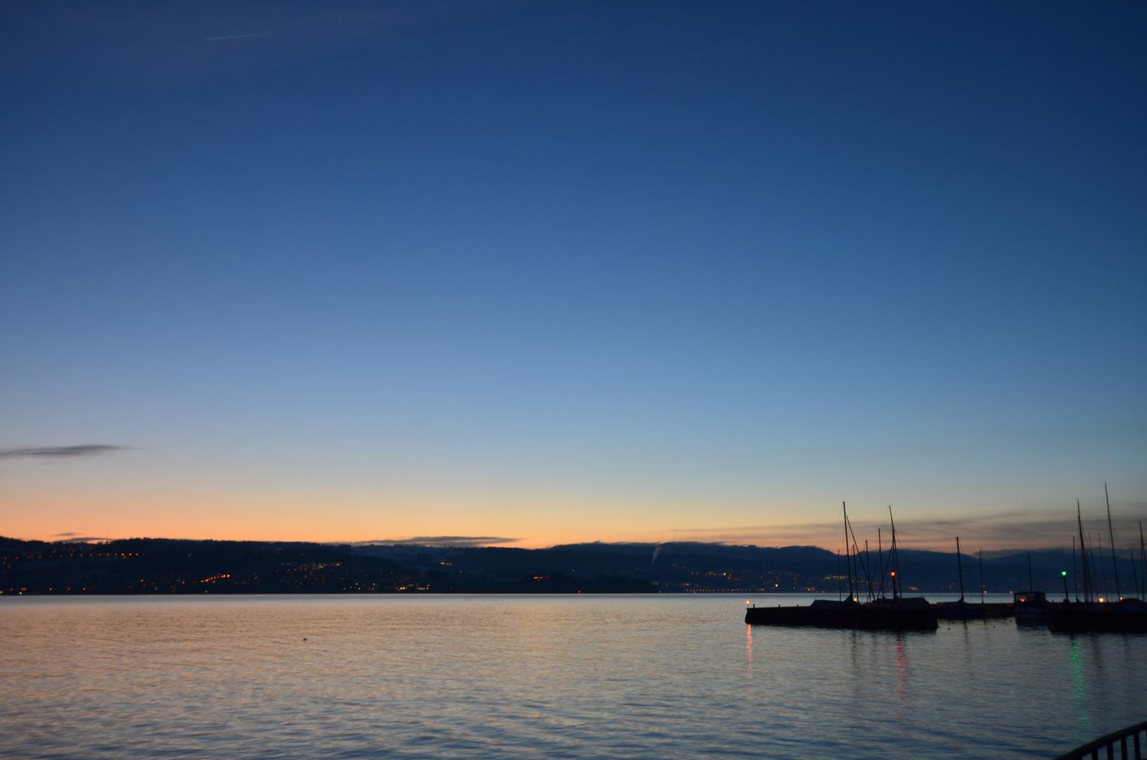 Abend überm See