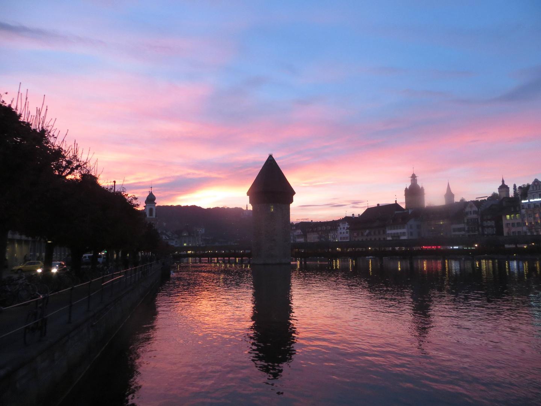 Abendatmosphäre über Luzern ...