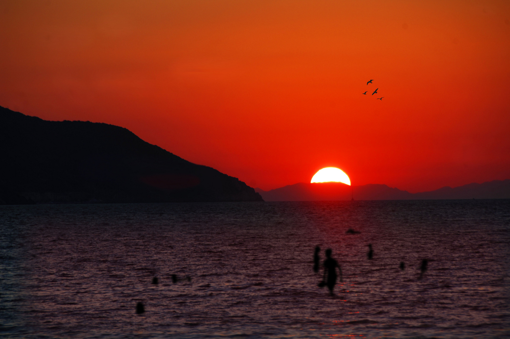 Abendbad auf Elba , Wasser 24 Grad