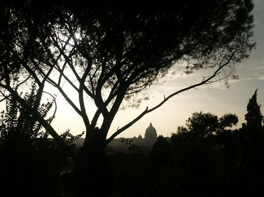 Abendblick auf Rom