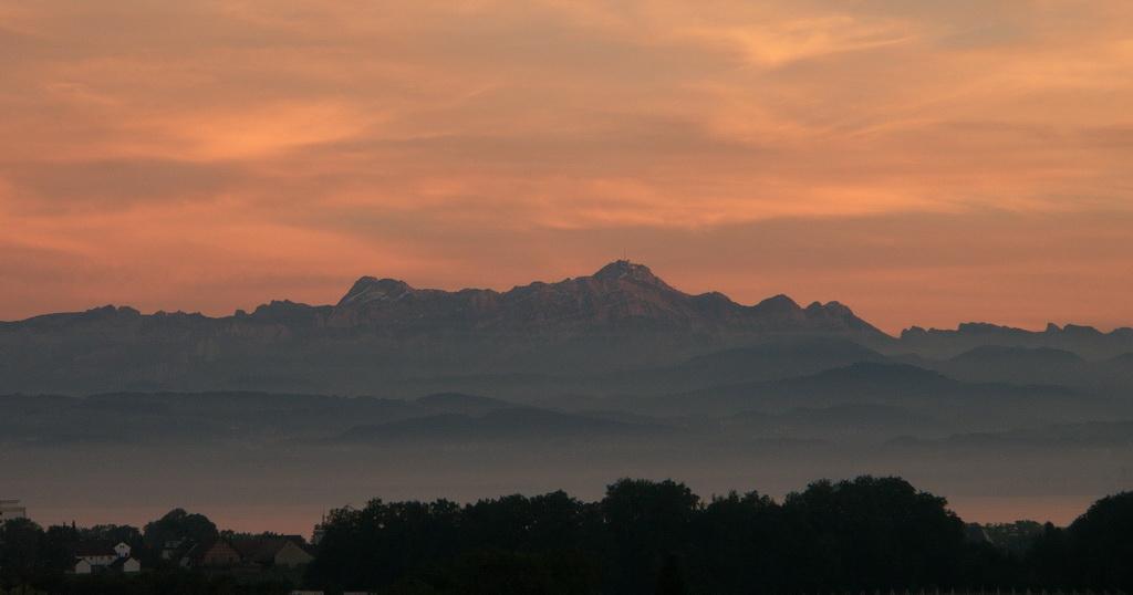 Abendblick aus meinem Fenster