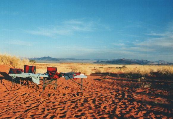 Abendbrot in der Wüste