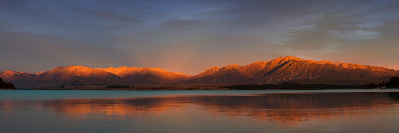 Abenddämmerung am Lake Tekapo