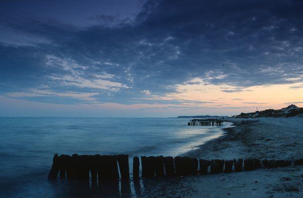 Abenddämmerung am Lenster Strand