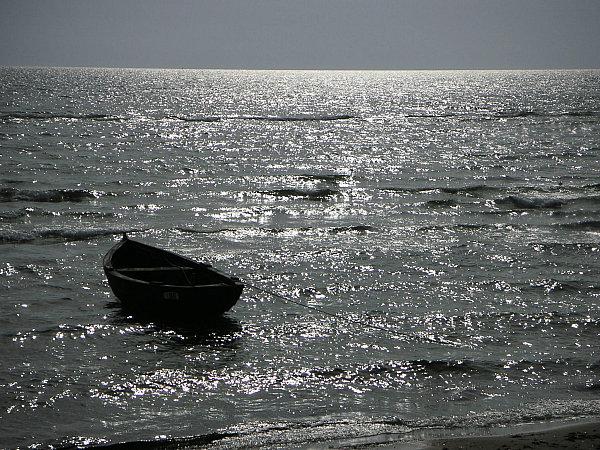 Abenddaemmerung am Meer
