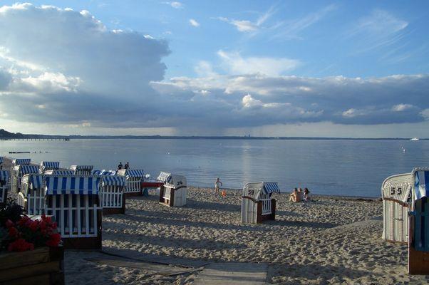 Abenddämmerung an der Ostsee.