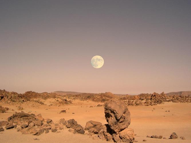 Abenddämmerung auf dem Mars