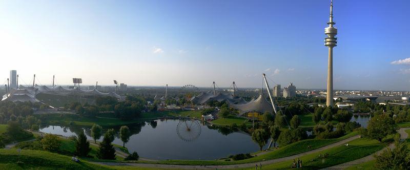 Abenddämmerung im Olympiapark