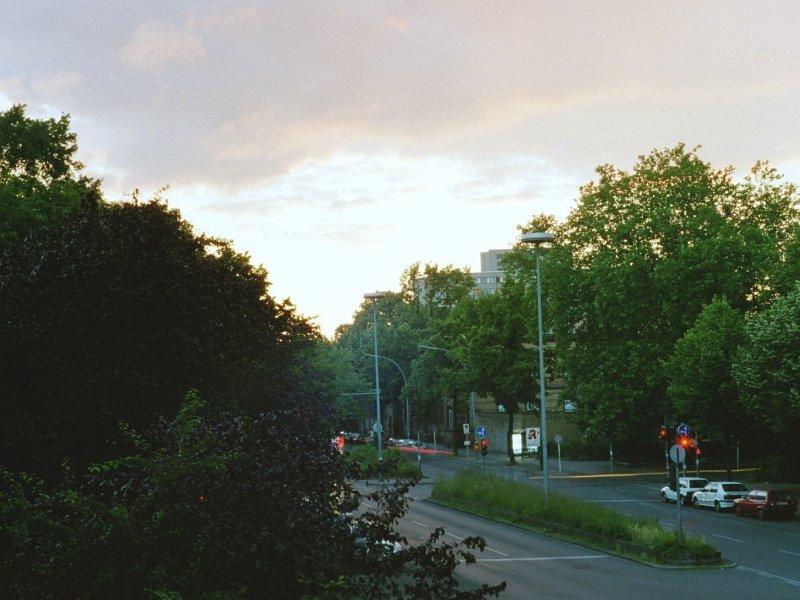 Abenddämmerung in der Stadt