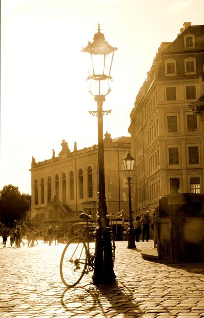 Abenddämmerung in Dresden