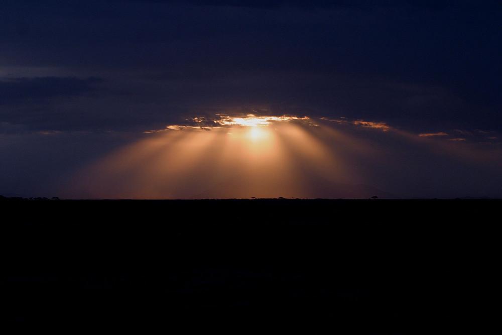 Abenddämmerung in Kenia