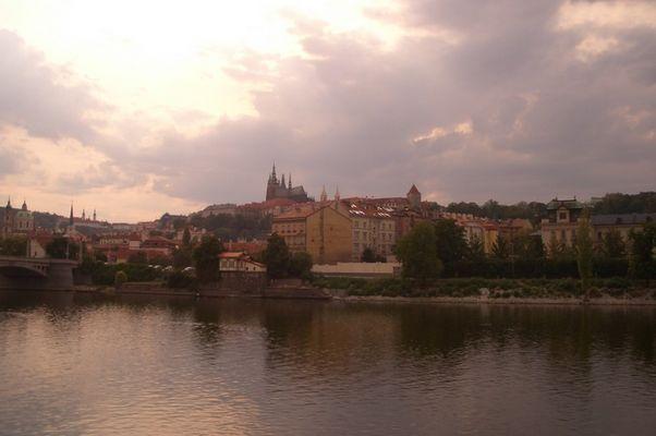 Abenddämmerung in Prag