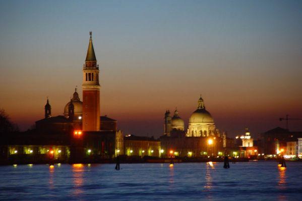 Abenddämmerung in Venedig