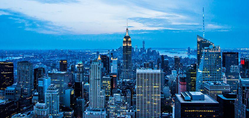 Abenddämmerung über Manhattan