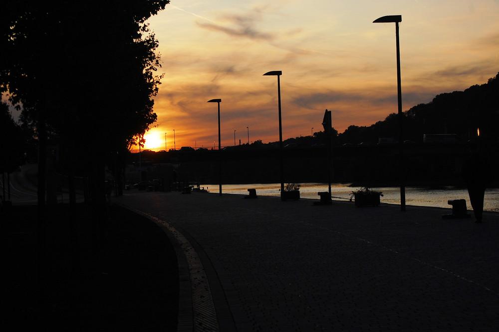 Abenddämmerung über Passau
