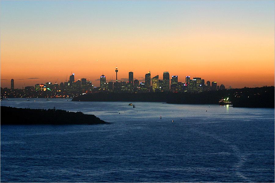 Abenddämmerung über Sydney...