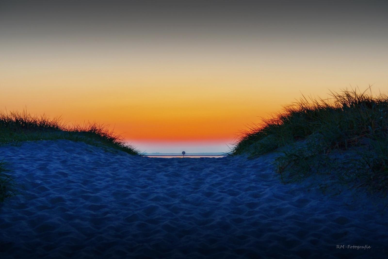 Abendflair in den Dünen