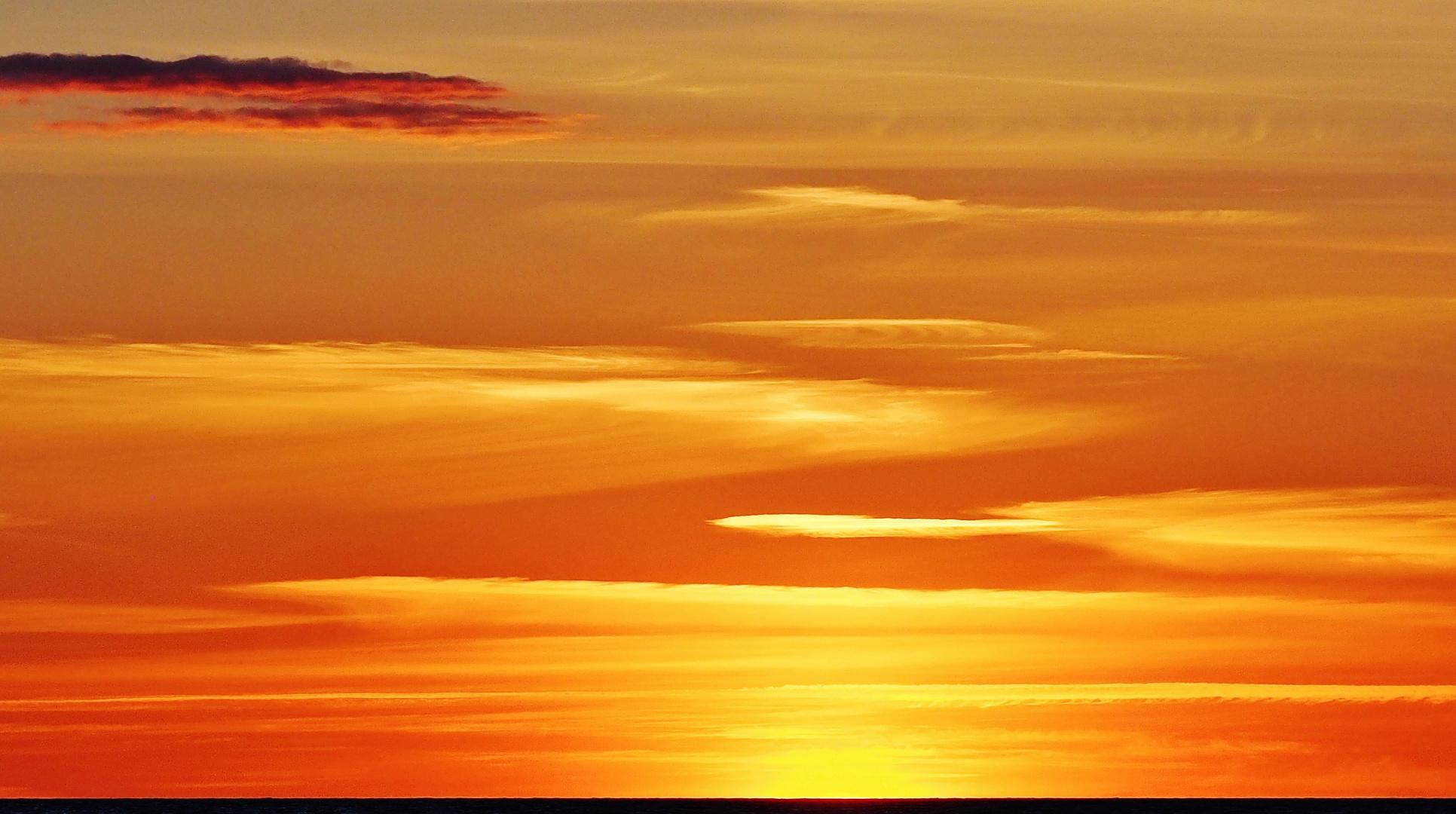 Abendgold am Horizont