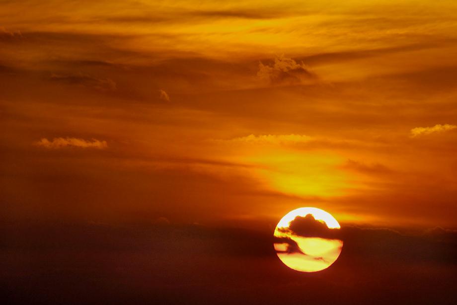 Abendhimmel am Meer