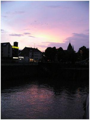 Abendhimmel am Rheinauhafen
