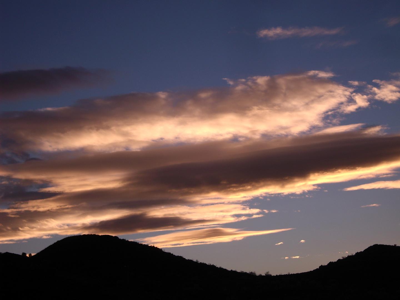 Abendhimmel im Frühling in Südspanien