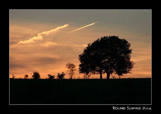 Abendhimmel im Sauerland