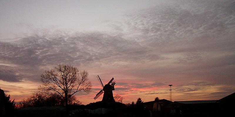 Abendhimmel in Ostfriesland