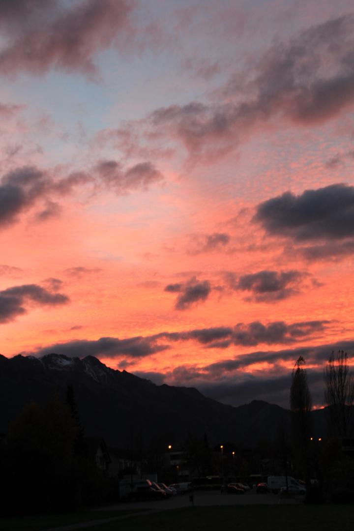 Abendhimmel in Thun Schweiz