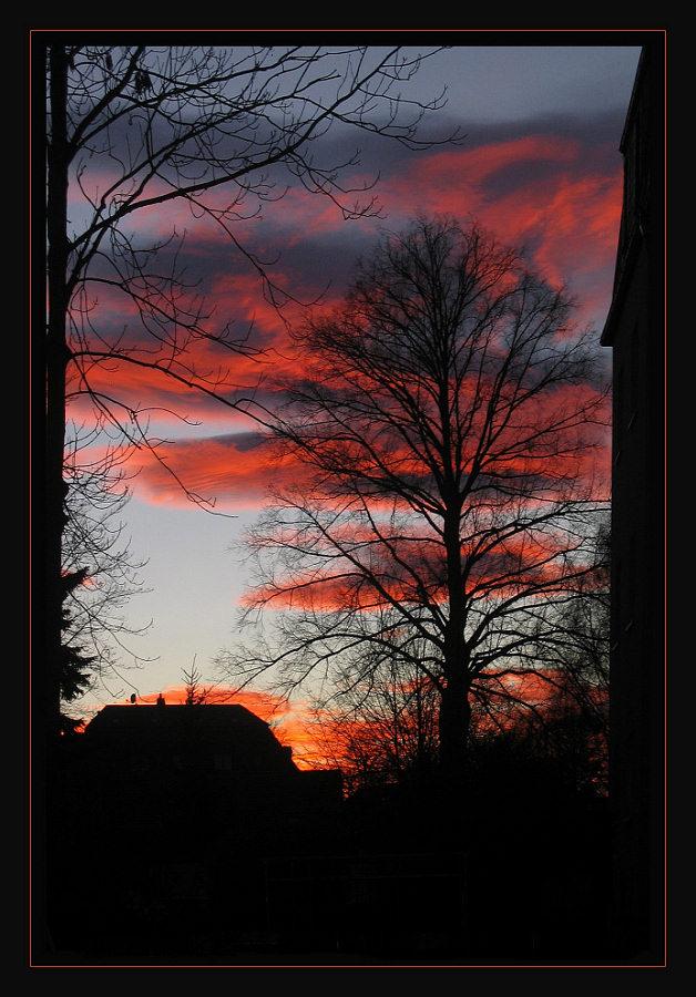 Abendhimmel über Chemnitz am 14.12.2006